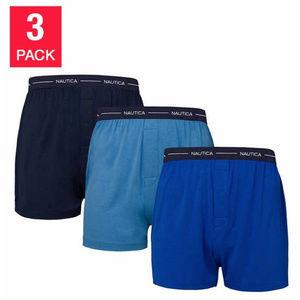 Nautica Underwear Men's Modal Knit Boxer 3-pack
